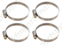 Narrow Band 9mm Steel Hose Clamp 40-60mm - Made in Germany Pk of 4   HC4060/9