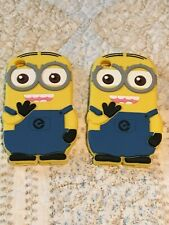 2 iPod Touch 4th Gen Soft Silicone Rubber Skin Case Cover Cute Minions Fast ship