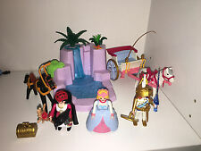 Loose Playmobil 5756 EVIL QUEEN PRINCESS KNIGHT CARRIAGE WATERFALL Awesome Set!!