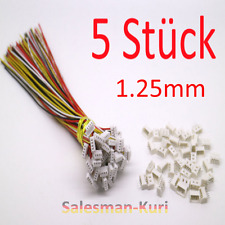 5x micro Mini Conector 1.25mm 4pin + cable 15cm 28awg, JST GH compatible + conector