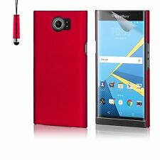 32nd Hard Shell Case Cover for Blackberry Priv Screen Protector & Stylus Red