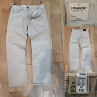 MARKS & SPENCER Men Light Beige/Natural Jeans W32 L29 New £35 Denim Trousers M&S