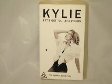 KYLIE MINOGUE - LET'S GET TO THE VIDEOS -  AUSSIE VHS VIDEO