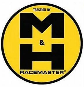 M&H Racemaster Traction Vinyl Decal Sticker 4023