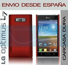 CARCASA FUNDA DURA ROJA LG OPTIMUS L7 P700 / P705 EN ESPAÑA