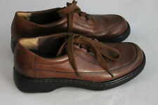 Women's Auditions Brown Laced Stitched leather Light slip on Flats shoes 6 AA