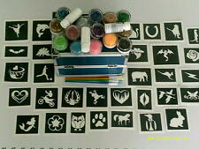 Professional business glitter tattoo set incl. vanity case & stencils Fundraise