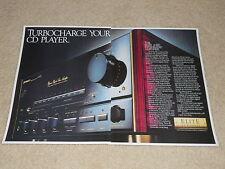 Pioneer Elite A-91D Amplifier Ad, 1987, Vintage, 2 pages, Article, Frame it!