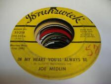 HEAR! Teen Doo Wop 45 JOE MEDLIN In My Heart You'll Always Be on Brunswick