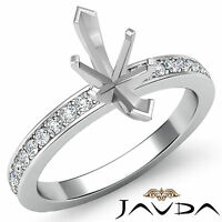 Marquise Semi Mount Pave Setting Diamond Women Wedding Ring 14k White Gold 0.5Ct