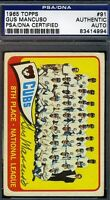 Gus Mancuso Cubs Signed Psa/dna 1965 Topps Certified Authentic Autograph