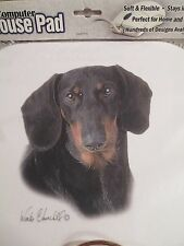 DACHSHUND BLACK AND TAN  MOUSE PAD