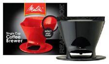 Melitta, 2 Pack, Ready Set Joe, #2, Black, Filter Cone Basket
