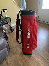 Vintage Wilson Sunday Light Nylon Golf Bag Red Made in USA
