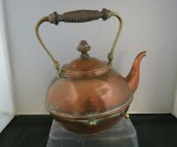Vintage Copper Kettle/Teapot with Hinged Brass Handle