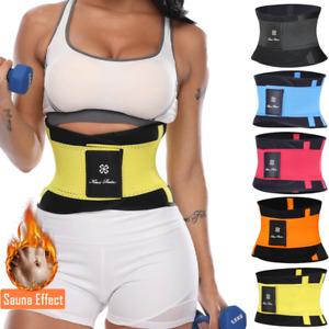 Sweat Waist Trimmer Belt Wrap Exercise Slimming Fat Burn Weight Loss Body Shaper