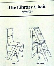 Vintage Gold Country Woodworks Library Chair Plan - Folding Step Ladder and Seat