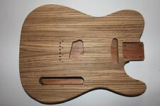 Tele Telecaster Telly Body Korpus Mahagoni Zebrano Top Gitarrenbau Custom Shop