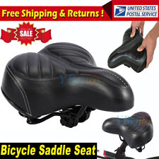 Comfort Wide Big Bum Bike Bicycle Sporty Soft Pad Saddle Seat Gel Cruiser Extra
