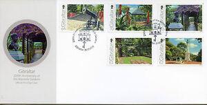 Gibraltar 2016 FDC Alameda Gardens 200th Anniv 5v Set Cover Flowers Trees Stamps