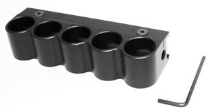 Black 12 gauge shotshell carrier shell holder picatinny rail hunting Aluminum.