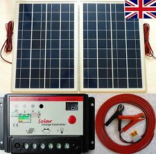 25w x 2 ( 50w ) Solar Panel + 10A 12V 24V battery charger controller + 10m cable