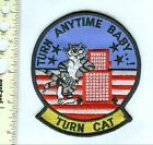Military Patch USN F-14 Tomcat Turn Anytime Baby