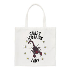 Crazy Scorpion Lady Stars Small Tote Bag - Funny Animal Shoulder