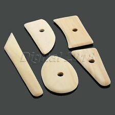 5 X Wood Pottery Sculpture Clay Ceramics Molding Potters Tool Kits