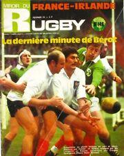 Miroir du Rugby n°148 - 1974 - Bérot - Le XV de France - Jean Claude Marty -