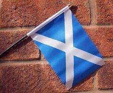 "ST ANDREW LIGHT BLUE SMALL HAND WAVING FLAG 6""X4"" flags SCOTLAND SCOTTISH"