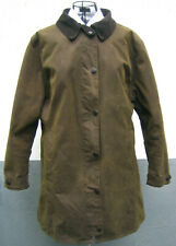 BARBOUR Damen Wachs Mantel Wax Coat EUR size 44 UK 18 Wool Lining Wollfutter