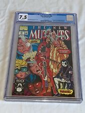 THE NEW MUTANTS #98 Marvel Comics 1991 CGC 7.5 White pages First Deadpool