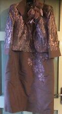 ZEILA MOTHER OF THE BRIDE/GROOM OUTFIT SIZE 14 DRESS FASCINATOR BOLERO JACKET