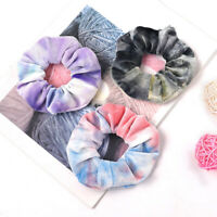 Tie Dyed Scrunchie Velvet Hair Ties Elastic Rubber Hair Rope Hair Accessories