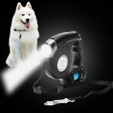 3 In 1 Pet Dog Retractable Extendable Leash Lead LED Flashlight with Garbage Bag