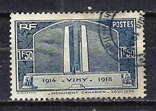 France 1936 monument de Vimy Yvert n° 317 oblitéré 1er choix (2)