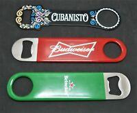 Budweiser /Heineken/ Cubanisto Bottle Opener,sBrand New x 3