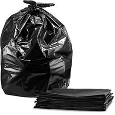 55-60 Gallon Contractor Trash Bags, 3.0 Mil, (50 Count w/Ties) Large Black He...