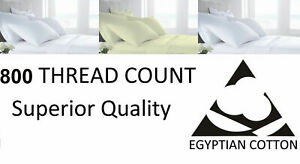 800 TC Thread Count 100% Egyptian Cotton Pillow Case Pair - Housewife / Oxford