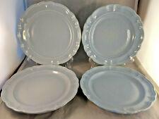 Set of 4 Pfaltzgraff Gazebo Blue Dinner Plates