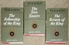 TOLKIEN ~ LORD OF THE RINGS TRILOGY ~ VINTAGE UK 3 VOL HC SET 1971 QUITE RARE