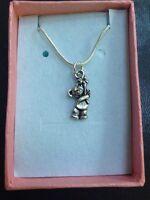 Teddy Bear Pendant Necklace