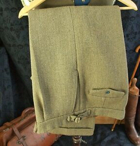 Excellent Pair of Bespoke Heavy Vintage Keepers Tweed Country Trousers 36 W