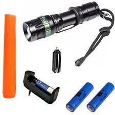TORCIA TATTICA MILITARE LED CREE 3 in 1 140000 LUMEN con 2 batterie 18650