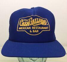 CASA GALLARDO Vtg 80s St Louis Mexican Restaurant Blue Snapback Mesh Trucker Hat