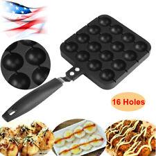 Takoyaki Nonstick Grill Pan Cooking Plate Round Pancake Puffs Octopus Ball Black