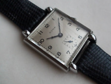 CYMA square hand wound wristwatch 1940s rare vintage antique