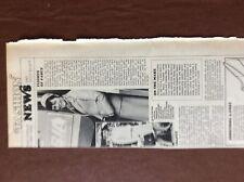 F1d Ephemera 1970s article bea stewardess uniform new designs