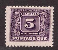 Sc# J4 - Canada - 1906 - 5c - Postage Due - MNH F - superfleas - cv$10